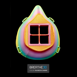 Open image in slideshow, Breathe3D Mask: Rainbow Ombre