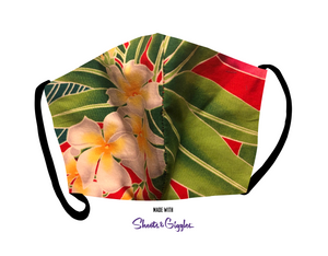 Open image in slideshow, Breathe3L Mask: Kaʻiulani's Plumeria