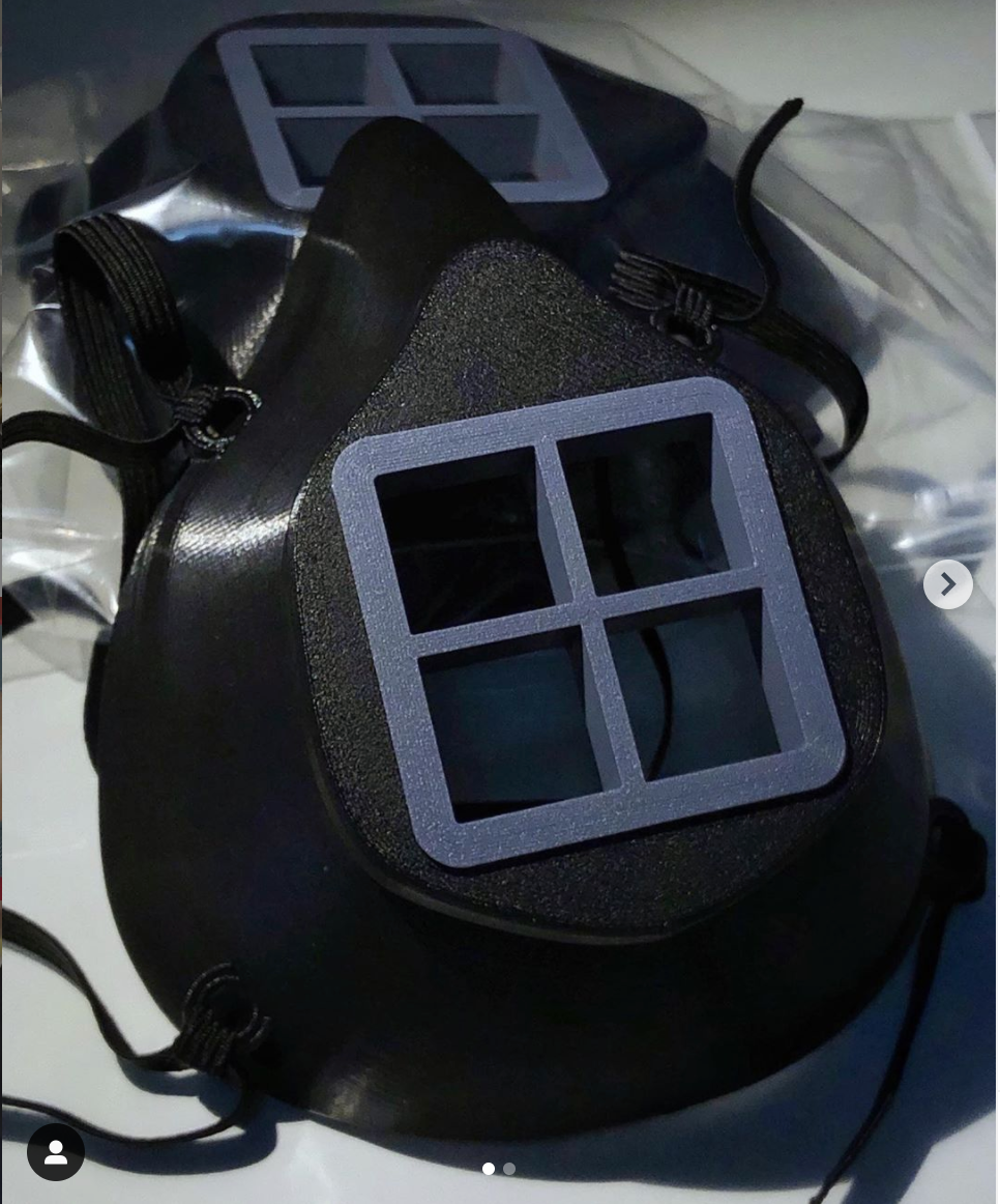 Breathe3D Mask: Black