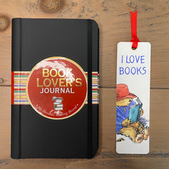 Readers Letterbox Gift Set comprising a Book Lovers Journal and Paddington, I Love Books Bookmark