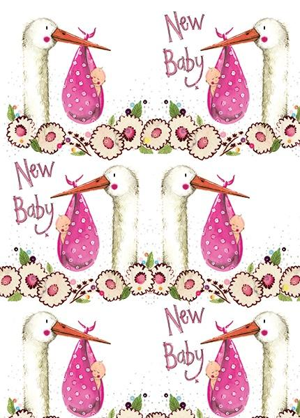 New Baby Girl Gift Wrap