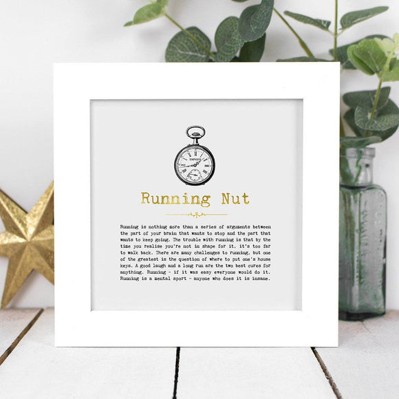 Running Nut Framed Vintage Word