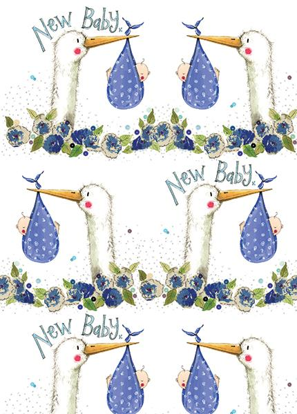 New Baby Boy Gift Wrap