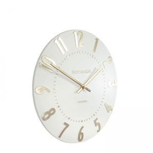 12 inch Ivory Champagne Mulberry Clock