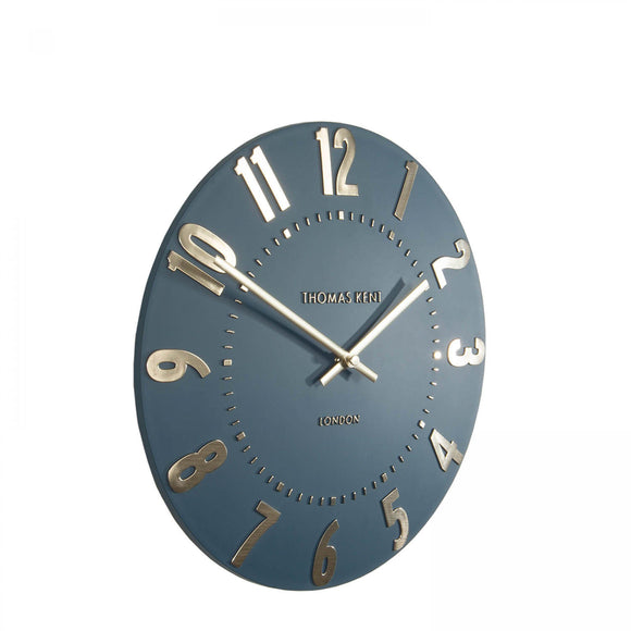12 inch Midnight Blue Mulberry Clock