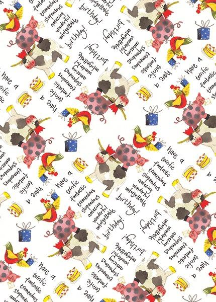 Birthday Farmyard Gift Wrap