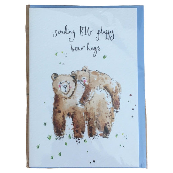 Fluffy Bear Hugs Card