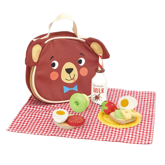 Wooden Little Bear's Picnic