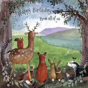 Forest Friends Birthday Card