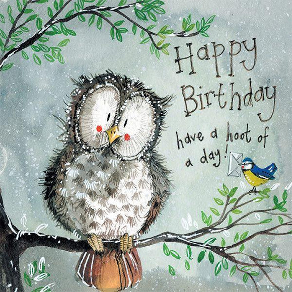 Hoot of a Day Birthday Card