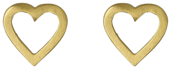 Sophia Open Heart Gold Earrings
