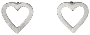 Sophia Open Heart Silver Earrings