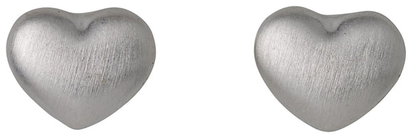 Sophia Heart Silver Stud Earrings