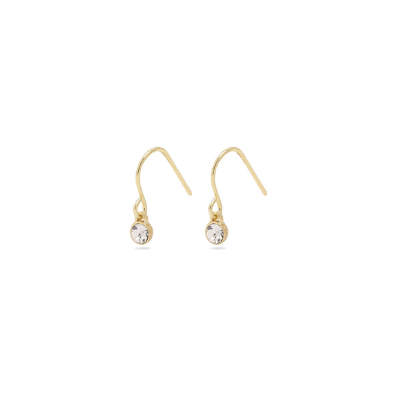 Lucia Gold Crystal Earrings