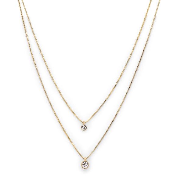 Lucia Gold Crystal Necklace
