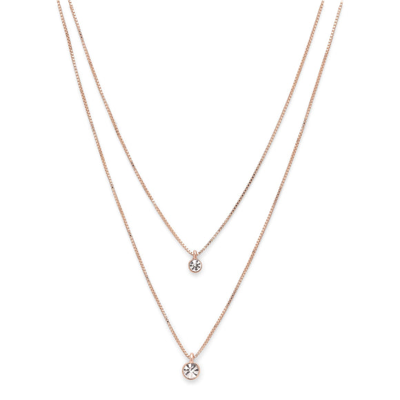 Lucia Rose Gold Crystal Necklace