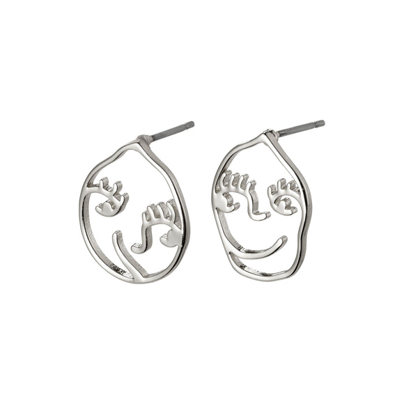Debra Silver Earrings