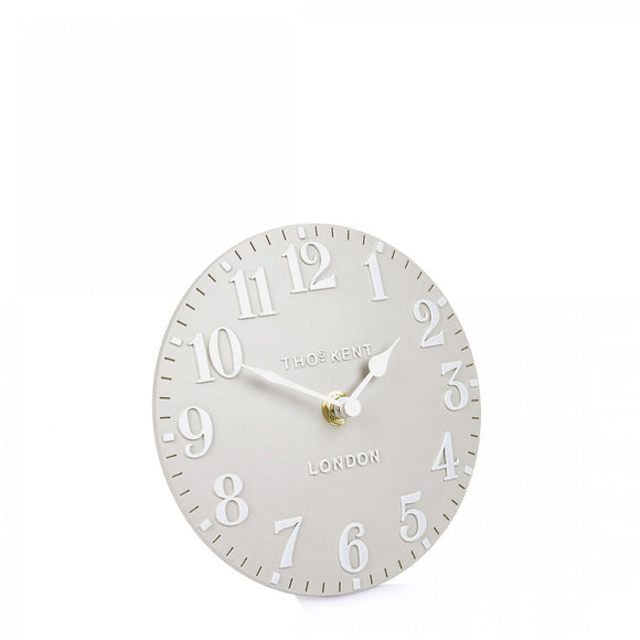 6 inch Dove Grey Arabic Mantel Clock