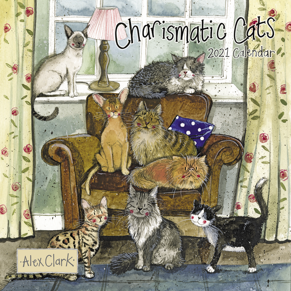 Alex Clark Charismatic Cats Calendar 2021