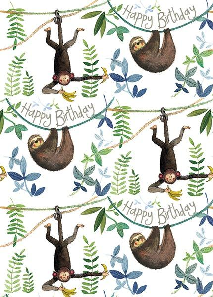 Birthday Jungle Gift Wrap
