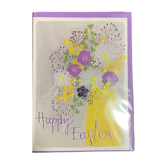 Yellow Vase Happy Easter Card