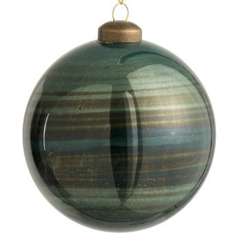 Antique Blue-Green Glass Bauble