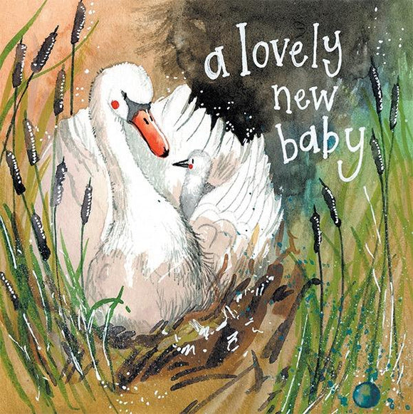 Swan New Baby Card
