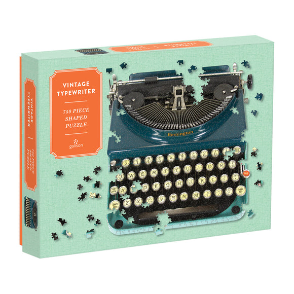 Vintage Typewriter 750 Piece Shaped Puzzle