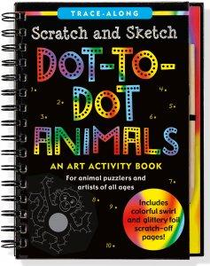 Dot to Dot Animals Scratch Sketch
