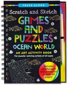 Ocean Games and Puzzles Scratch & Sketch