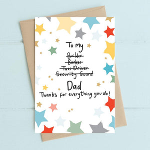 Dad Thanks for Everything Card