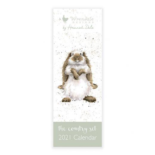 Wrendale Country Set Slim Calendar 2021