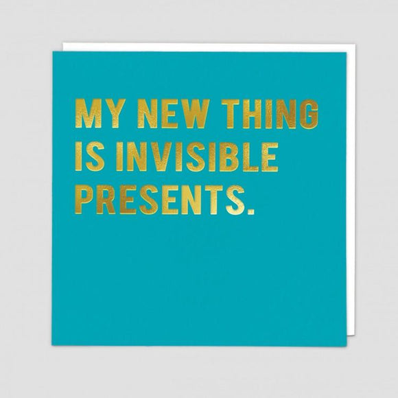 Invisible Presents Card