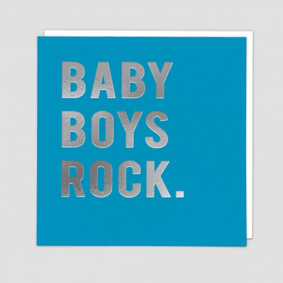 Baby Boys Rock Card