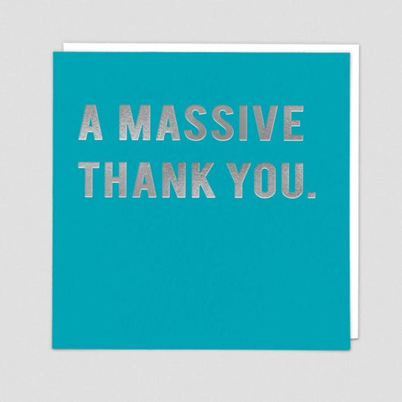 Massive Thank You Card