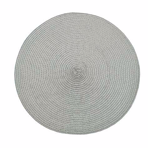 Dove Grey Ribbed Circular Placemat