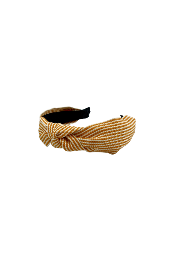 Fifi Stripe Headband Yellow
