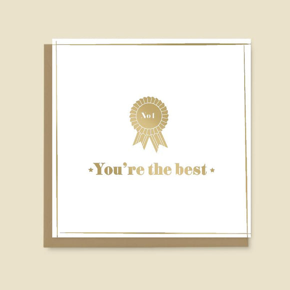 No 1 You're the Best Card