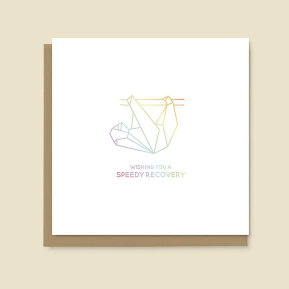Sloth Speedy Recovery Card