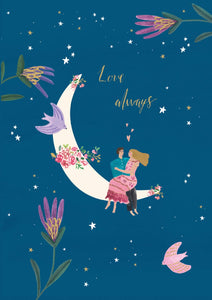 Love Always Moon Card