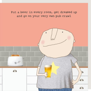 Pub Crawl Male Card
