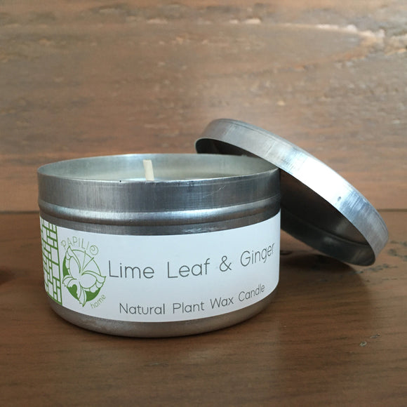 Limeleaf and Ginger Travel Tin Candle