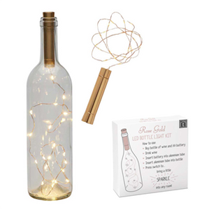 LED Rose Gold Bottle Light Kit