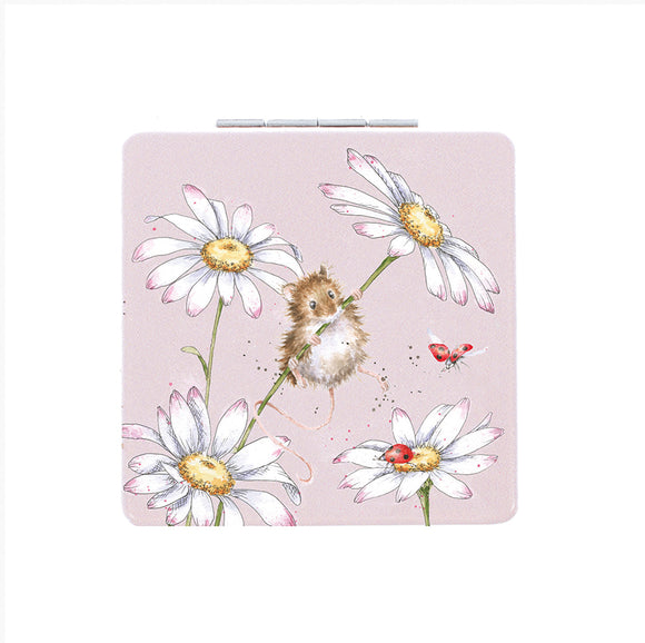 Oops a Daisy Mouse Compact Mirror