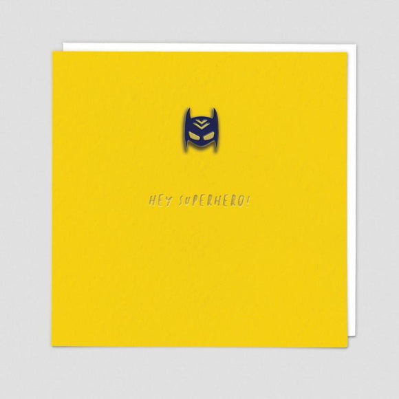Superhero Mask Enamel Pin Card