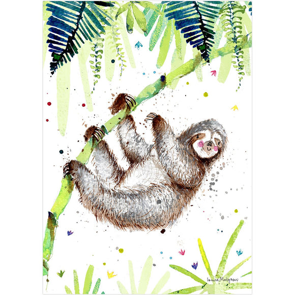 Louise Mulgrew Print Sloth A4