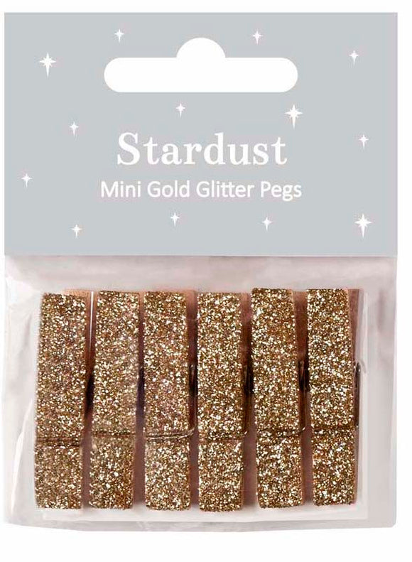 Stardust Mini Gold Pegs Set of 6