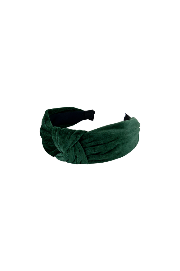 Bottle Green Velour Headband