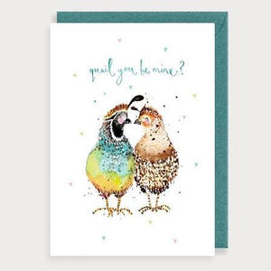 Quail You Be Mine? Card