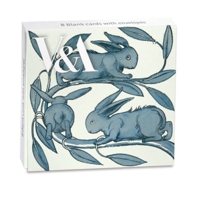 Rabbits Running Along A Branch Pack of 8 Mini Cards